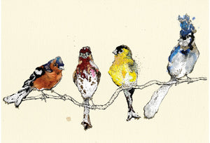 """Finches"" Small Signed Print"