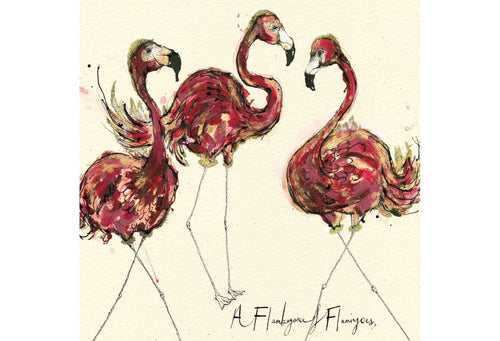 A Flamboyance of Flamingoes Greeting Card