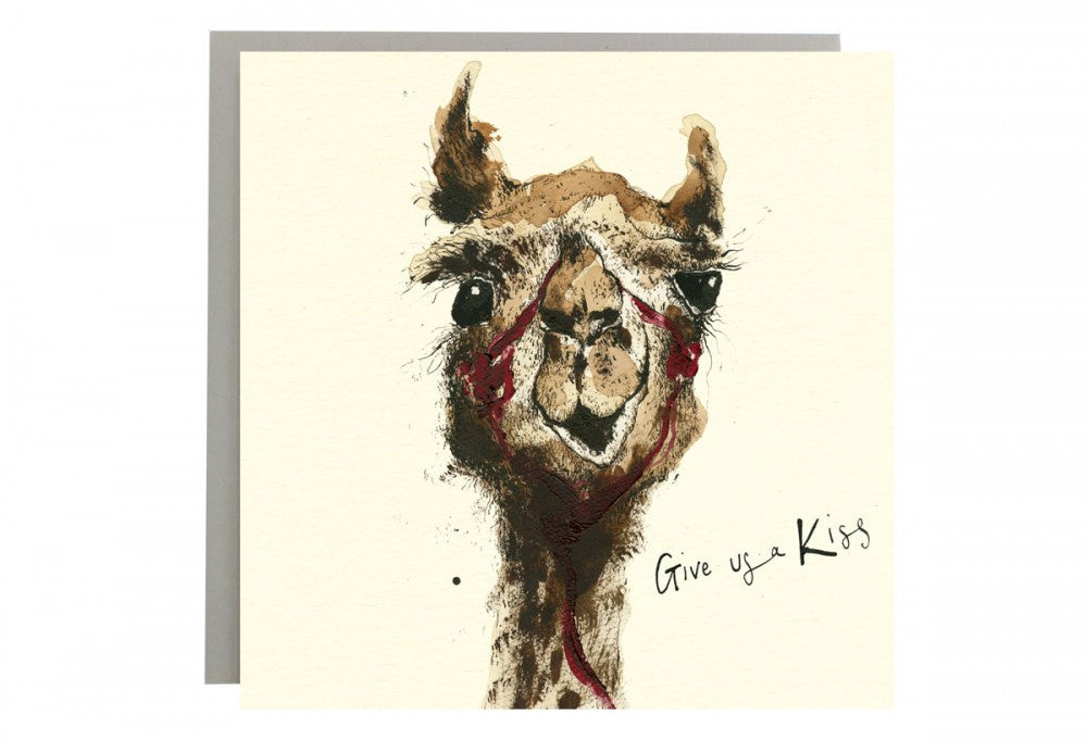 Give Us A Kiss Greeting Card