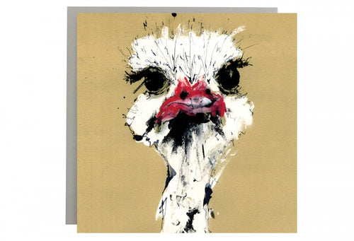 Mr Ostrich Greeting Card