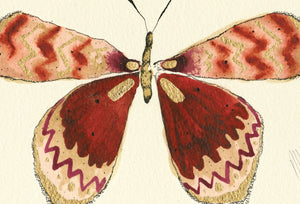 """Amber Butterfly""  Extra Mini Signed Print"