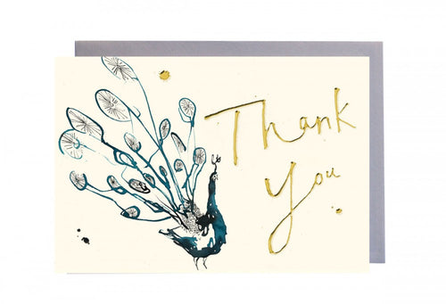Thank You Peacock Greeting Card