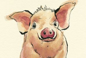 """Piggy"" Extra Mini Signed Print"