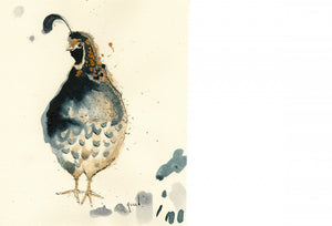 """Quail"" Small Signed Print"