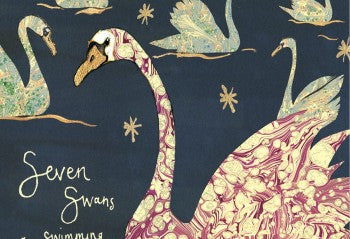 Seven Swans a Swimming Greeting Card