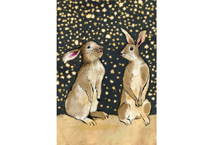 """Snow Bunnies""  Small Signed Print"