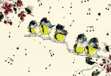 "Load image into Gallery viewer, ""The Singing Tits""  A4 Signed Print"