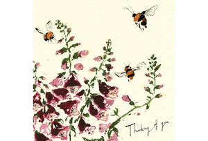 Thinking of You Bees Greeting Card