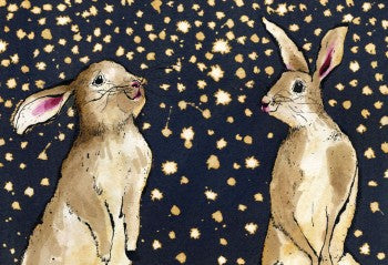 Snow Bunnies Greeting Card