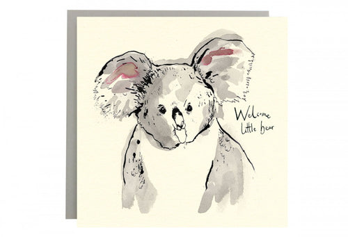 Welcome Little Bear Greeting Card