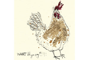 WHAT Did you Say!? Greeting Card