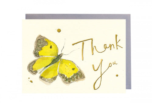 Thank You Yellow Butterfly Greeting Card
