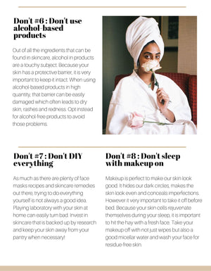 LA Guide Book - 20 Skincare Dos and Don'ts