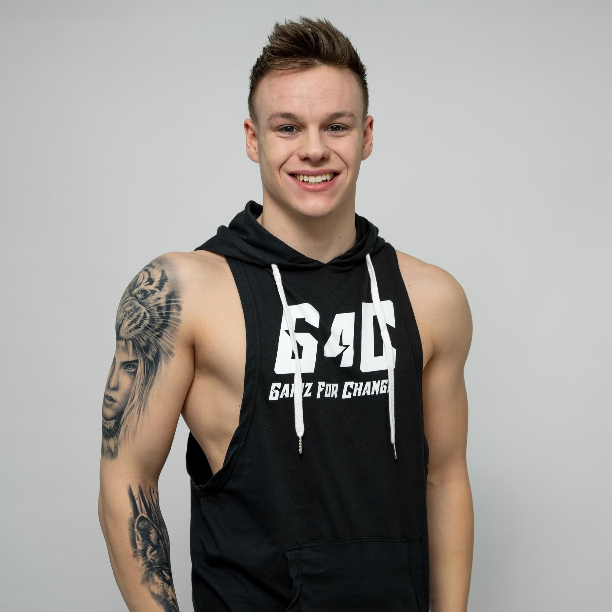 Gainz4Change Sleeveless Hoodie black - Gainz4Change