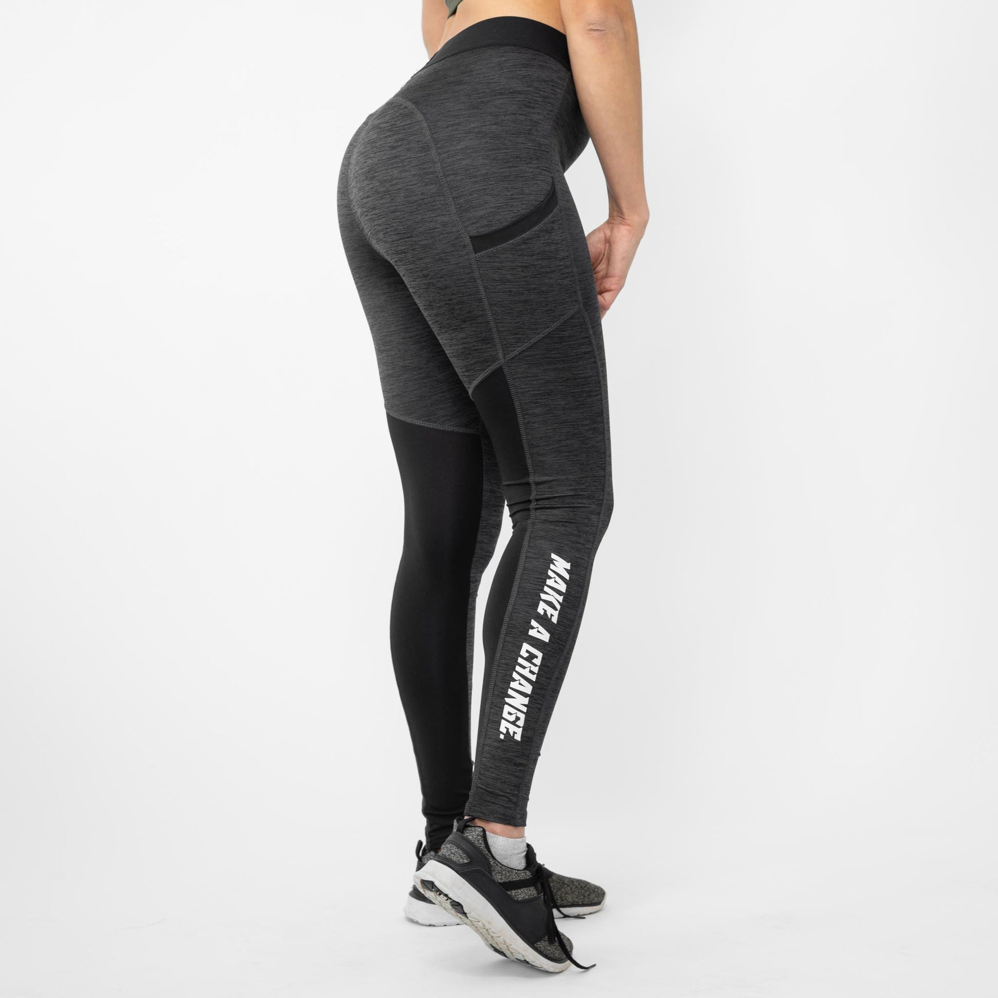 Gainz4Change Legacy Leggings Slate Melange - Gainz4Change
