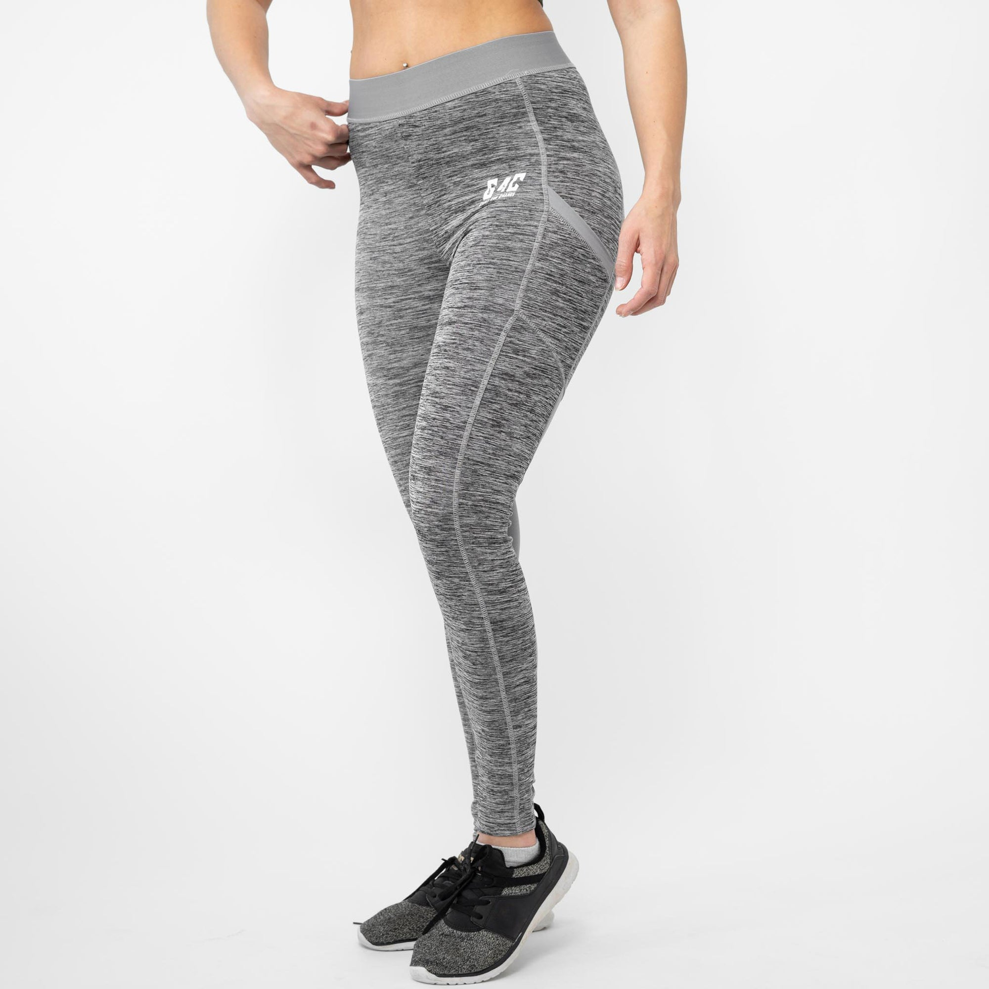 Gainz4Change Legacy Leggings Grey Melange - Gainz4Change