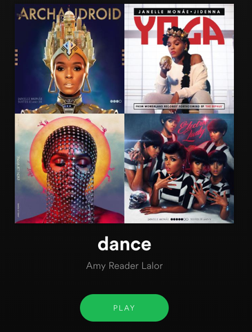Dance playlist on Spotify by Amy Reader Lalor