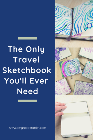 The Only Travel Sketchbook You'll Ever Need - a comprehensive review of the Moleskine Art Plus Pocket Sketchbook and why it is the best travel sized sketchbook for most creatives on the go. Written by Amy Reader