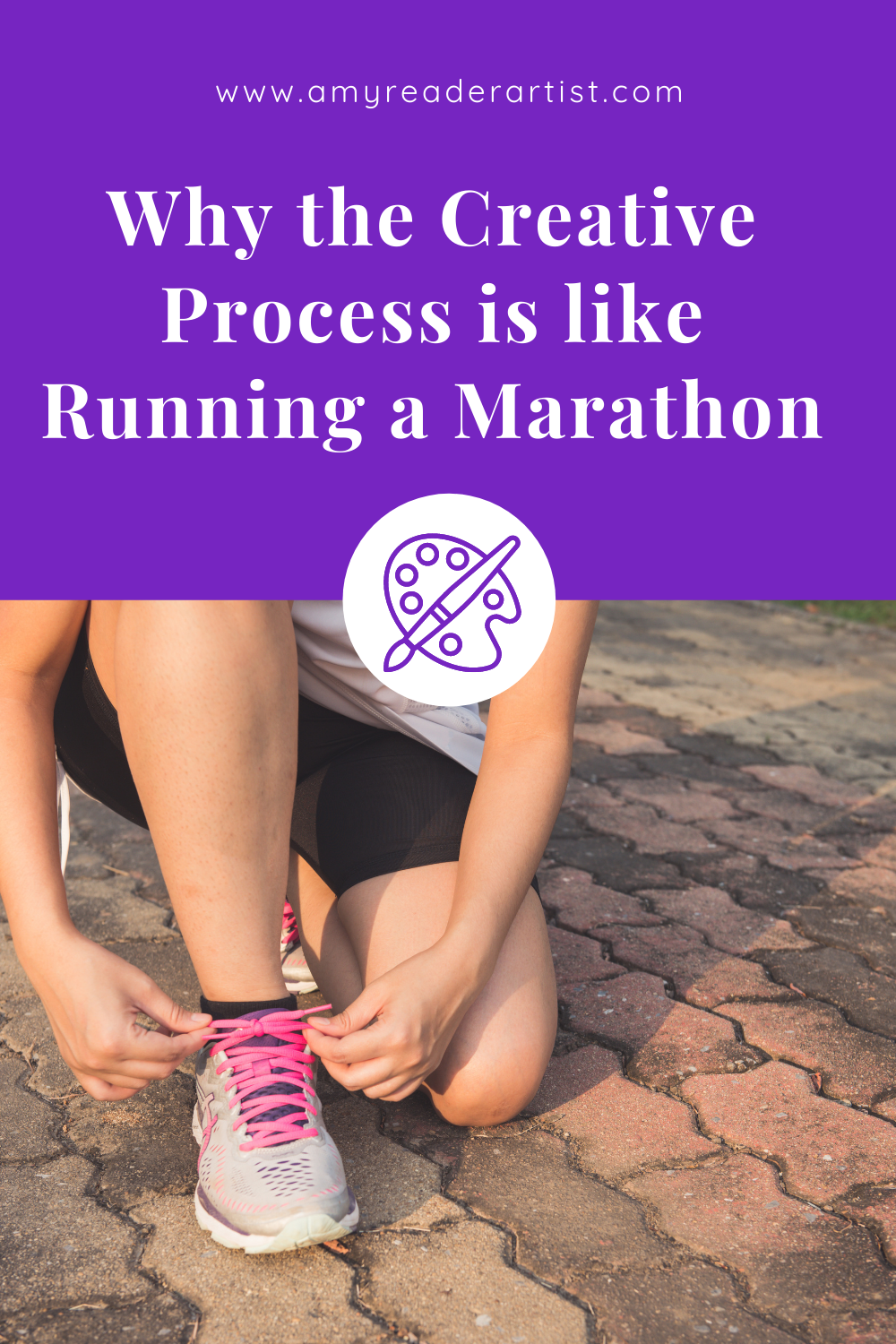 Why the Creative Process is like Running a Marathon - both are full of highs and lows and pain and excitement.