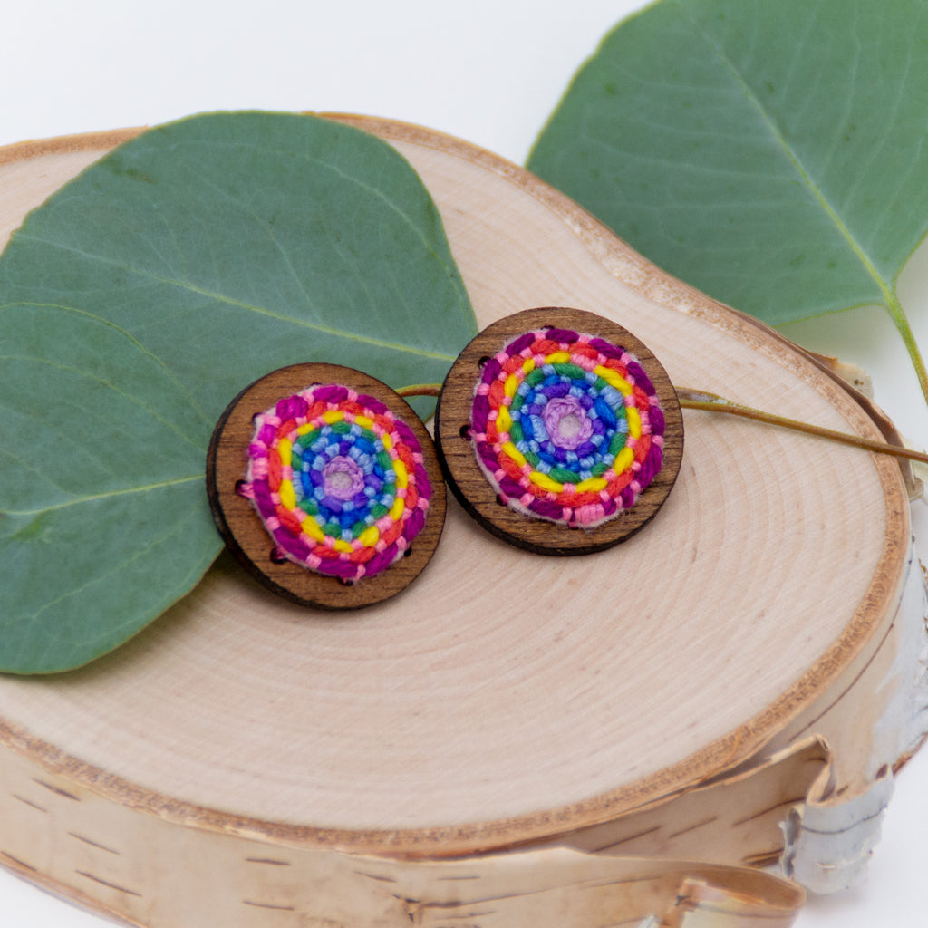 *NEW* XL Rainbow Studs