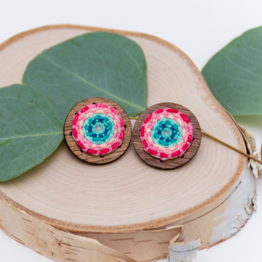 *NEW* XL Light Rainbow Studs
