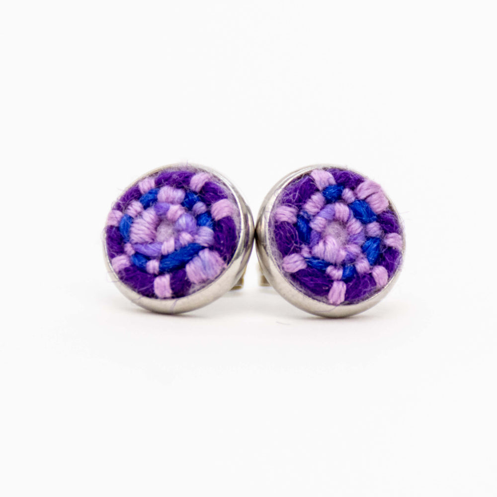 Purple Stitched Studs