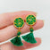 Holiday Evergreen Tassel Studs