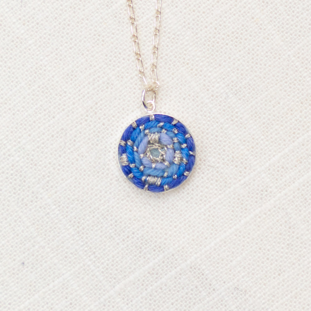 Holiday Icicle Blue Dainty Mini Circle