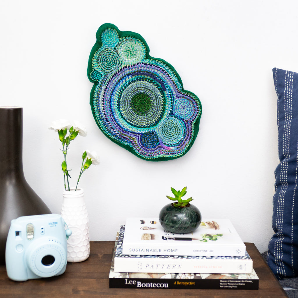 Dark Green Freeform Wall Hanging, Wall Hanging,  [variant_title] - Amy Reader ,