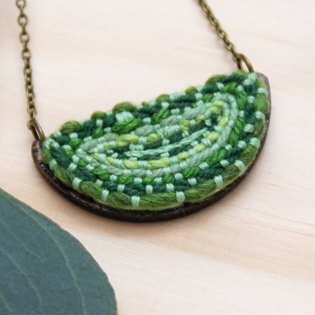 Mini Half Circle Pendant, [product_type],  Green - Amy Reader ,