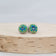 *NEW* Green & Blue Stitched Studs