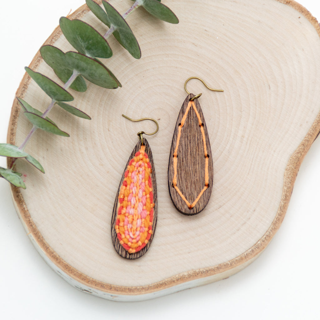 *NEW* Tangerine Teardrop Earrings