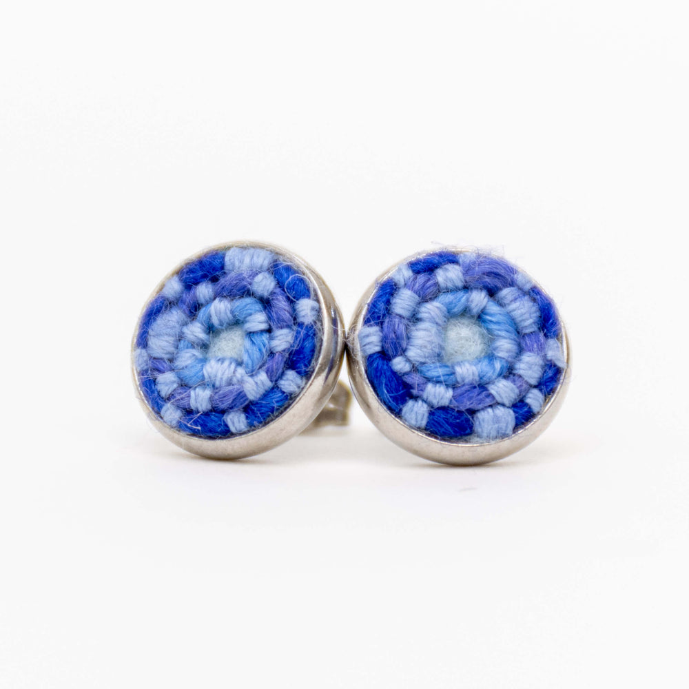 Dark Blue Stitched Studs