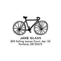 Bike Return Address Stamp