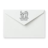 Two Cats Return Address Stamp