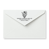 Flower Patch Return Address Stamp