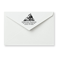 Mountain Return Address Stamp