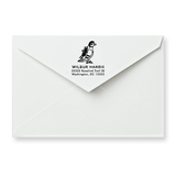 Pigeon Return Address Stamp