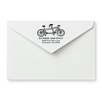 Tandem Bike Return Address Stamp