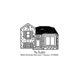 House Portrait Address Stamp