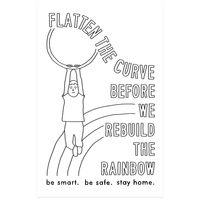 """Flatten the Curve"" Protest Poster"