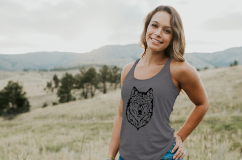 Ladies Tank Top | My Wolf the Sacred
