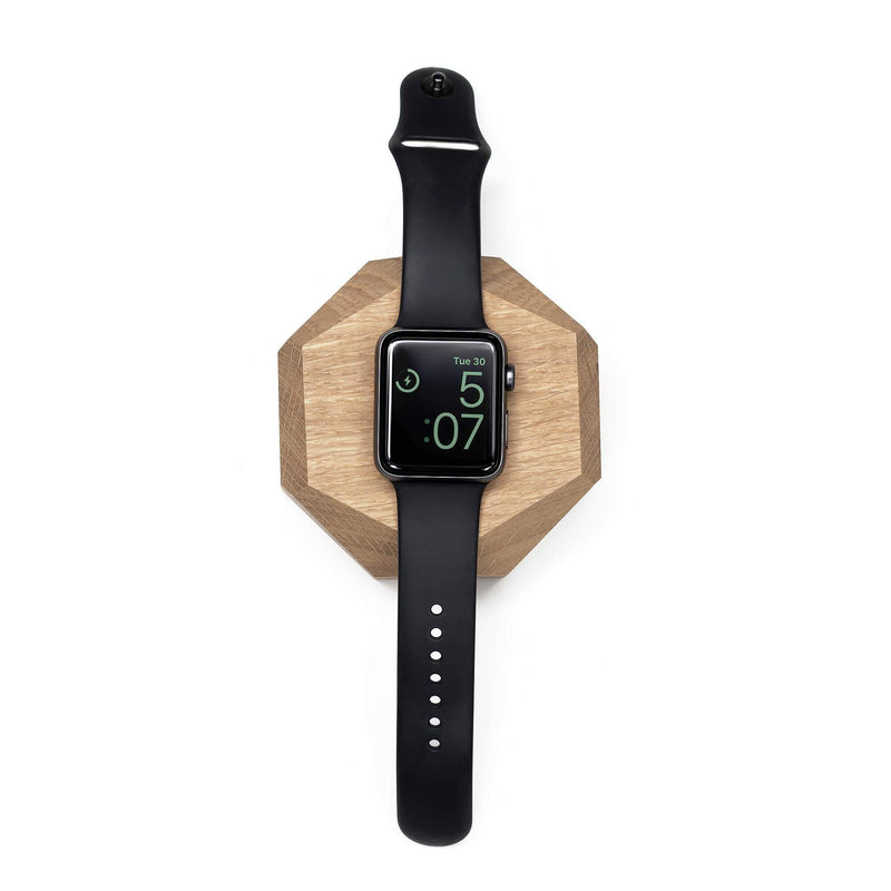 Base carga inalámbrica Apple Watch Nogal