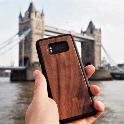 funda movil madera de nogal