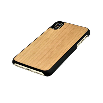 Funda iPhone X y XS Max de madera de Cerezo