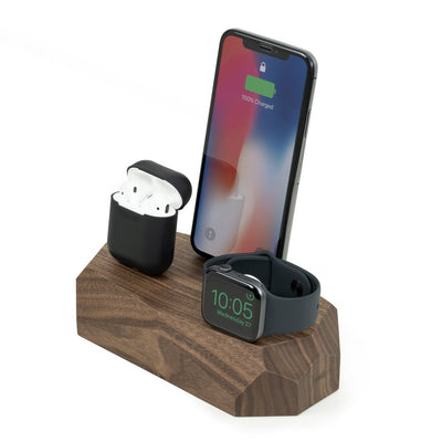 Base de carga triple iPhone, Apple Watch y AirPods