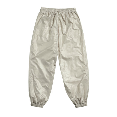 アクメドラビ(acme' de la vie) GLOSSY WOVEN SET-UP PANTS BEIGE