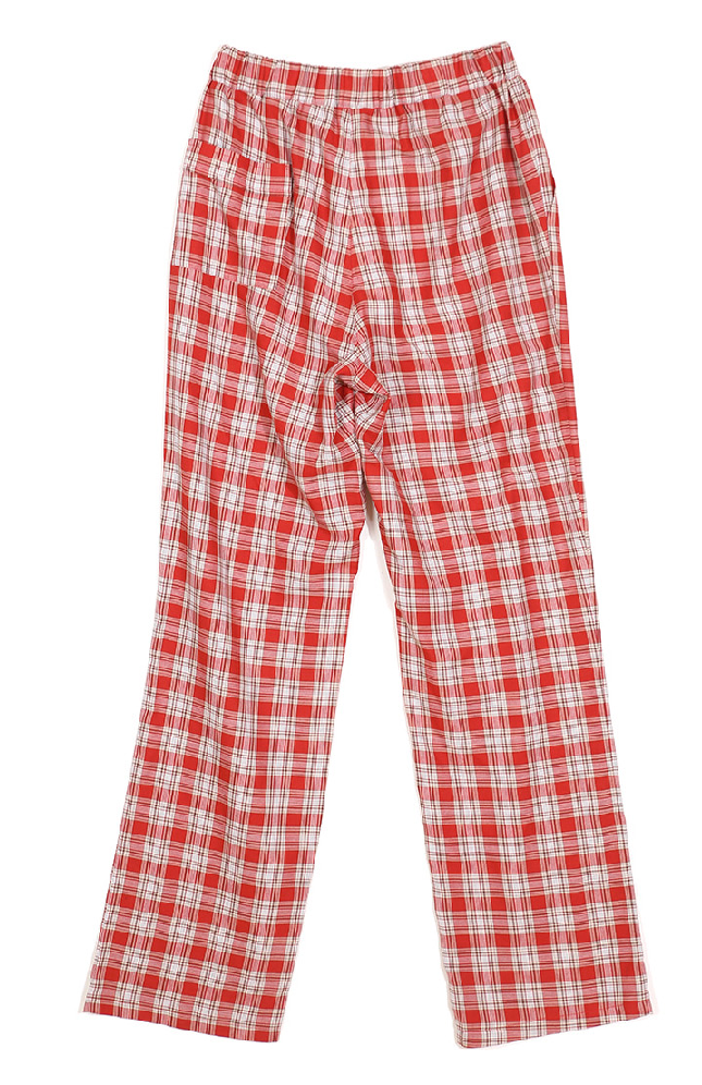 サーティーンマンス(13MONTH) CHECK WIDE BANDING PANTS (RED)
