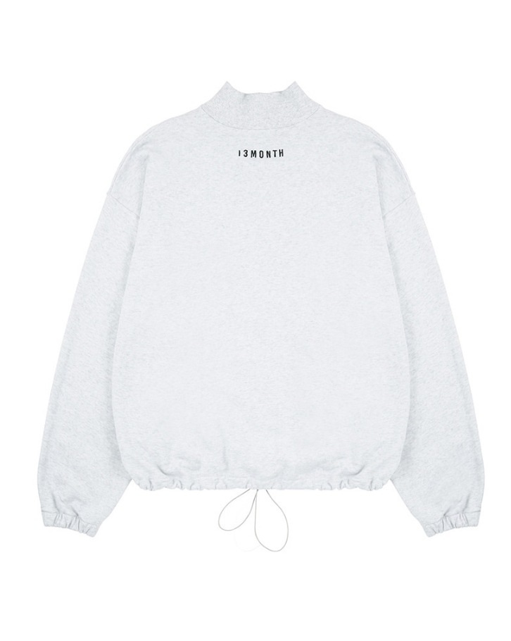 サーティーンマンス(13MONTH) TURTLENECK WAIST STRING SWEAT SHIRT (グレー)