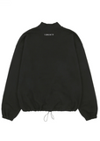 サーティーンマンス(13MONTH) TURTLENECK WAIST STRING SWEAT SHIRT (ブラック)